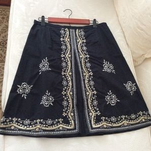 New York & Company Embellished Skirt